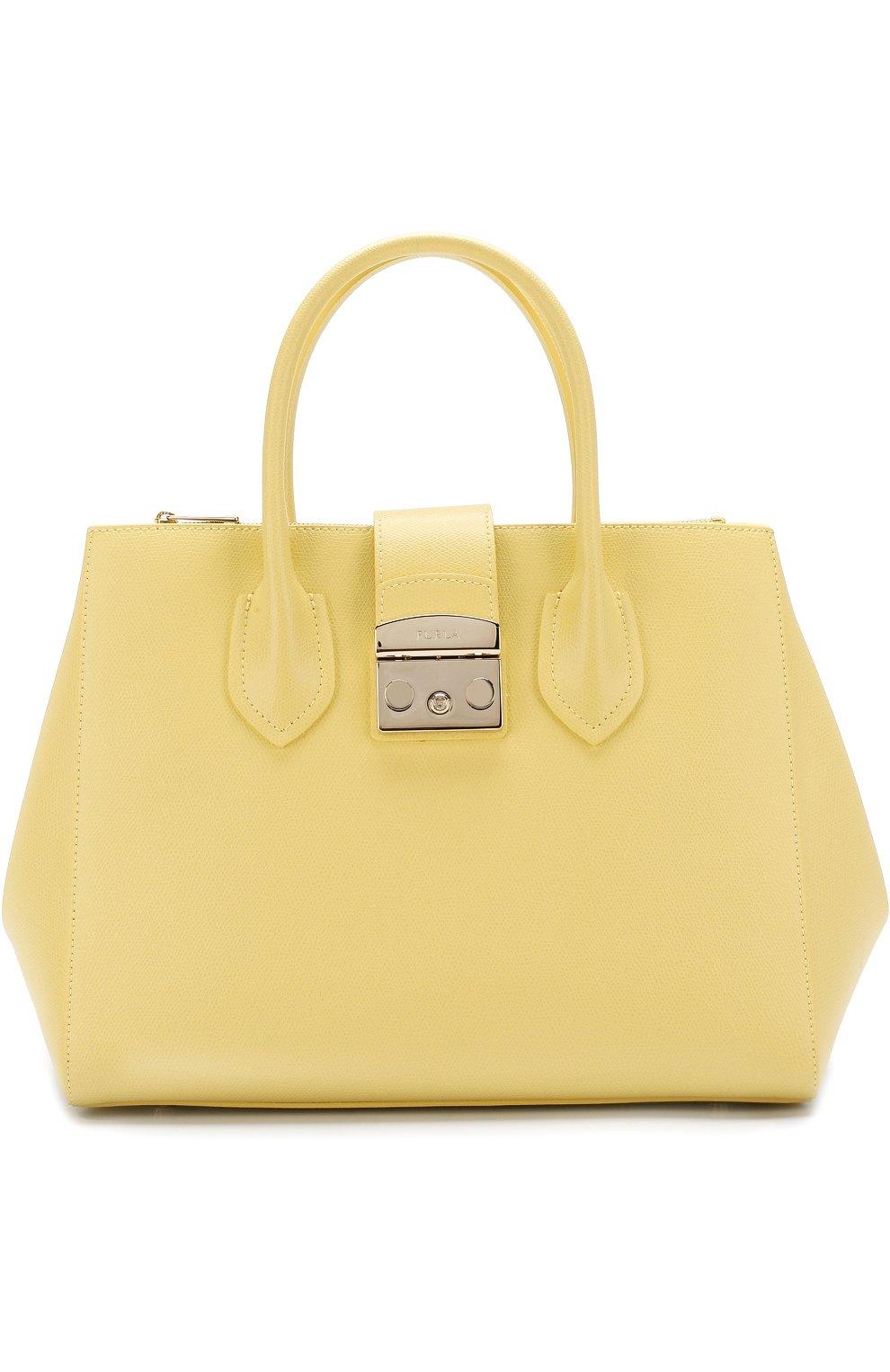 Женская сумка-тоут metropolis FURLA желтая цвета — купить за 27500 ... 9b20bef56bd