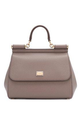 Женская сумка sicily medium DOLCE & GABBANA светло-серого цвета, арт. BB6002/A1001   Фото 1
