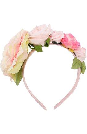 Ободок с цветочным декором | Фото №1