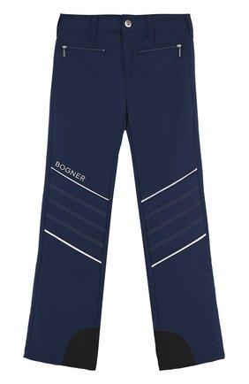 Утепленные брюки с контрастной отделкой | Фото №1