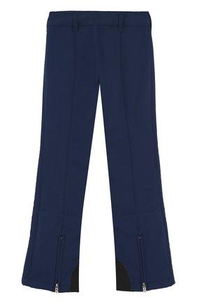 Детские утепленные лыжные брюки с контрастной отделкой Bogner Kids синего цвета | Фото №1