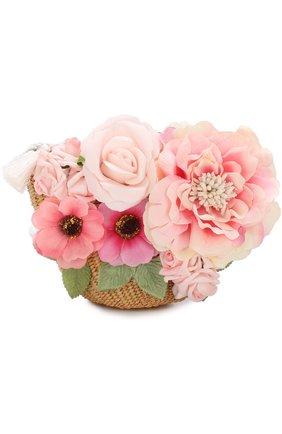 Плетеная сумка с декором | Фото №1
