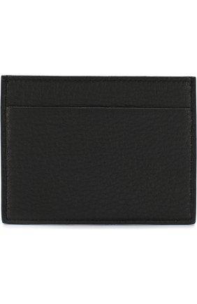 Мужской кожаный футляр для кредитных карт GIORGIO ARMANI черного цвета, арт. Y2R099/YDH4J   Фото 1