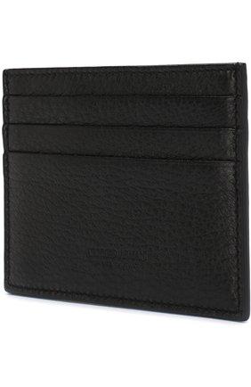 Мужской кожаный футляр для кредитных карт GIORGIO ARMANI черного цвета, арт. Y2R099/YDH4J   Фото 2
