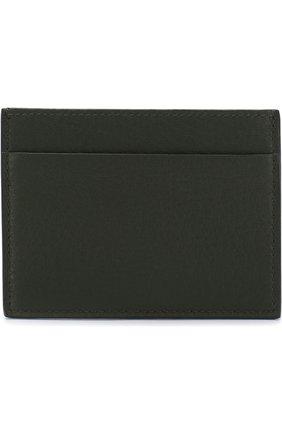 Мужской кожаный футляр для кредитных карт GIORGIO ARMANI зеленого цвета, арт. Y2R099/YDH4J | Фото 1