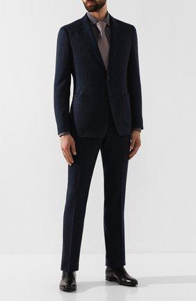 Мужские кожаные оксфорды SANTONI черного цвета, арт. MCKE14285JJ1I0BRN01 | Фото 2