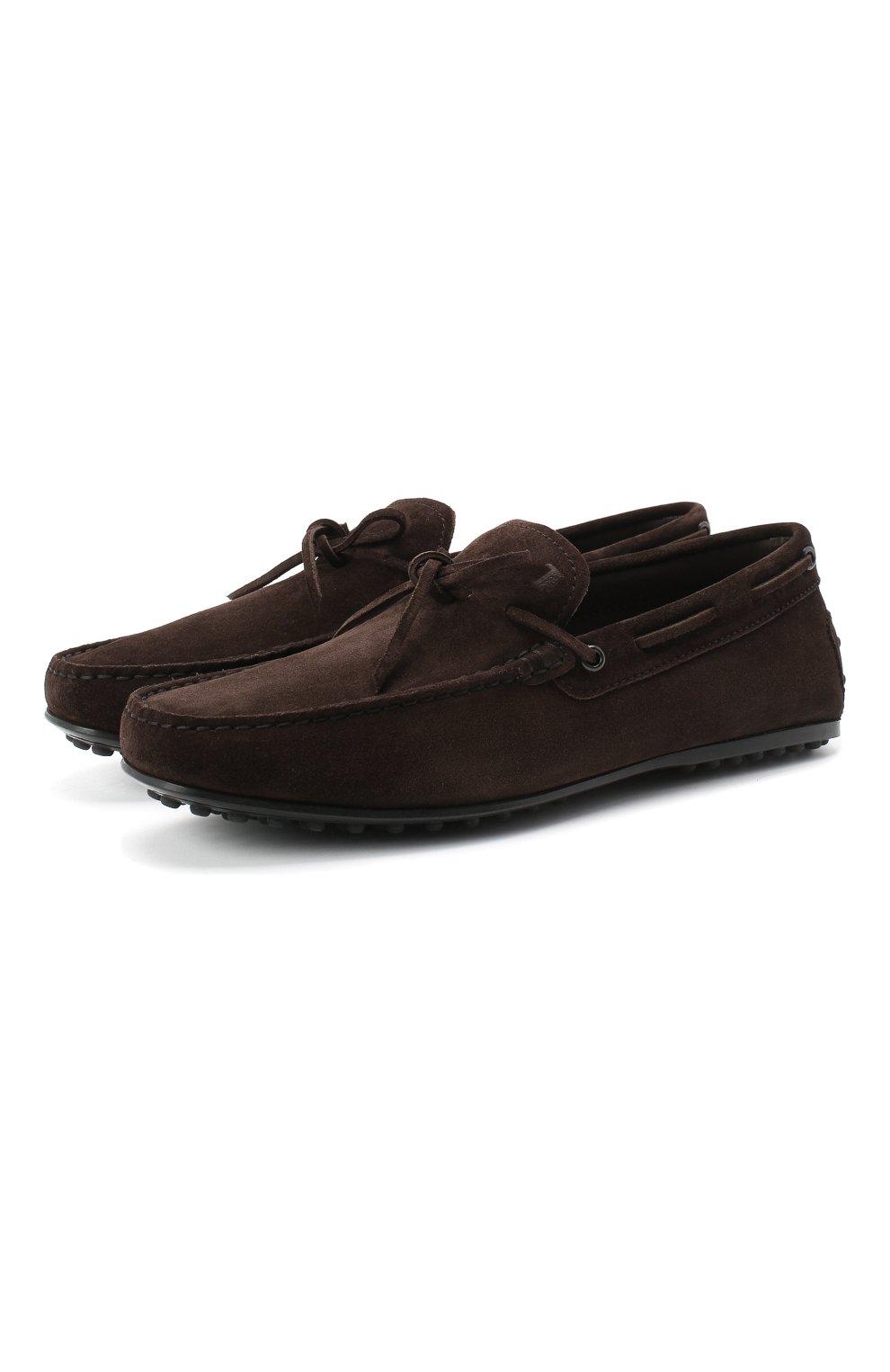 Замшевые мокасины на шнуровке | Фото №1