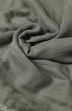 Шарф из смеси вискозы и льна с шелком Rick Owens серый | Фото №1