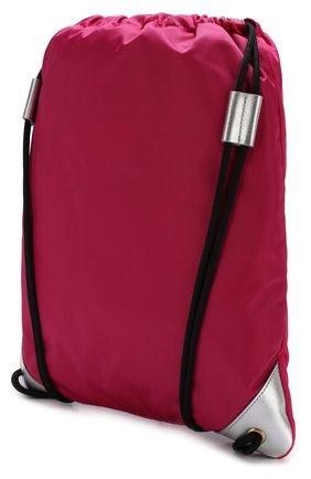 Детская текстильный рюкзак с аппликациями DOLCE & GABBANA фуксия цвета, арт. EB0132/AN459 | Фото 2