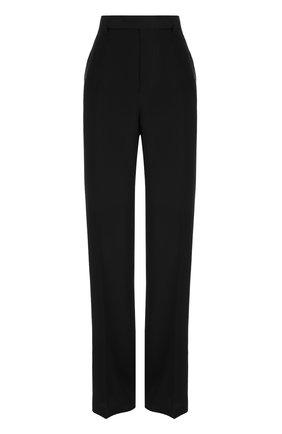 Шелковые расклешенные брюки со стрелками | Фото №1
