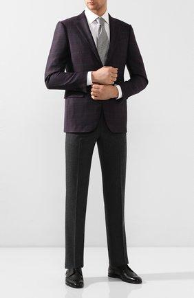 Мужской кожаные дерби с брогированием H`D`S`N BARACCO черного цвета, арт. 66206.4* | Фото 2