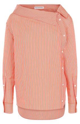 Блуза свободного кроя в полоску | Фото №1