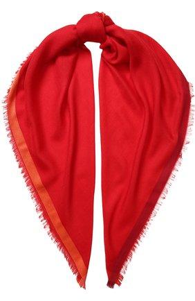 Женский платок quadrata rainbow из кашемира и шелка LORO PIANA красного цвета, арт. FAE7233 | Фото 1