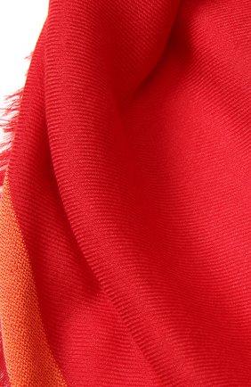 Женский платок quadrata rainbow из кашемира и шелка LORO PIANA красного цвета, арт. FAE7233 | Фото 2