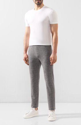 Мужской шерстяные брюки Z ZEGNA серого цвета, арт. V8475/ZZTP60 | Фото 2
