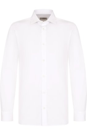 Мужская хлопковая сорочка с воротником акула Z ZEGNA белого цвета, арт. 305001/9DFEDI | Фото 1