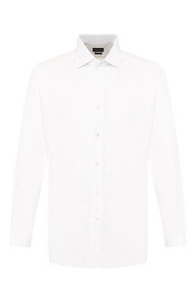 Мужская хлопковая сорочка ERMENEGILDO ZEGNA белого цвета, арт. 301031/9RS0GS   Фото 1