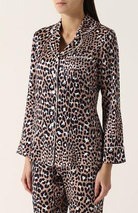 Шелковая пижама с леопардовым принтом Olivia Von Halle леопардовая | Фото №1