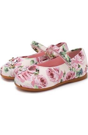 Туфли с принтом и кристаллами   Фото №1