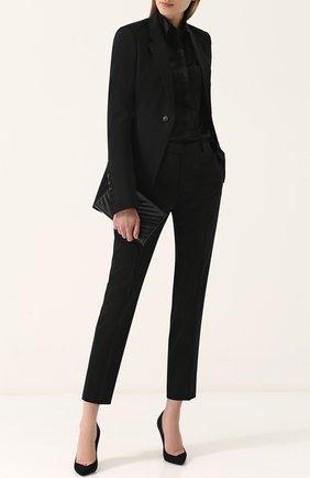 Укороченные шерстяные брюки со стрелками Rick Owens черные | Фото №1