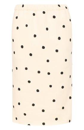 Шерстяная юбка-миди в горох | Фото №1