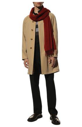 Мужской кашемировый шарф LORO PIANA красного цвета, арт. FAB9149 | Фото 2