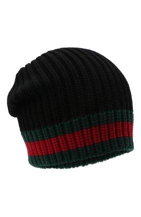 Мужская шерстяная шапка GUCCI черного цвета, арт. 429753/4G206 | Фото 1