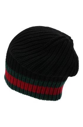 Мужская шерстяная шапка GUCCI черного цвета, арт. 429753/4G206 | Фото 2