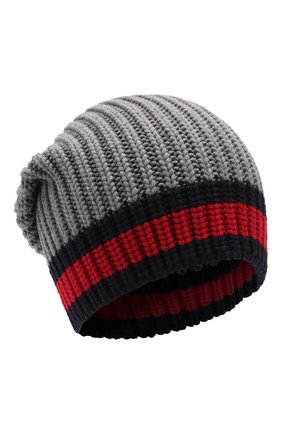Мужская шерстяная шапка GUCCI темно-серого цвета, арт. 429753/4G206 | Фото 1