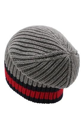 Мужская шерстяная шапка GUCCI темно-серого цвета, арт. 429753/4G206 | Фото 2