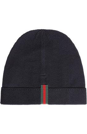 Шерстяная шапка бини | Фото №2