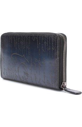 Мужская кожаный футляр для документов на молнии BERLUTI темно-синего цвета, арт. N139684 | Фото 2
