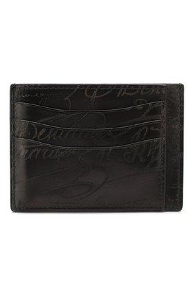 Мужской кожаный футляр для кредитных карт BERLUTI черного цвета, арт. N083775 | Фото 1