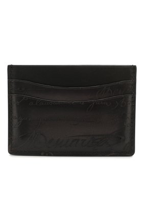 Мужской кожаный футляр для кредитных карт BERLUTI черного цвета, арт. N135255 | Фото 1