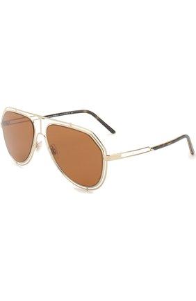 Мужские солнцезащитные очки DOLCE & GABBANA коричневого цвета, арт. 2176-488/73 | Фото 1