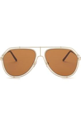 Мужские солнцезащитные очки DOLCE & GABBANA коричневого цвета, арт. 2176-488/73 | Фото 2