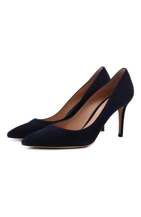 Женские замшевые туфли gianvito 85 GIANVITO ROSSI темно-синего цвета, арт. G24580.85RIC.CAMDENI | Фото 1