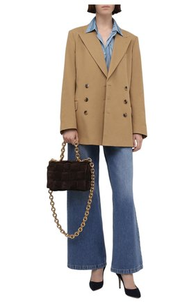 Женские замшевые туфли gianvito 85 GIANVITO ROSSI темно-синего цвета, арт. G24580.85RIC.CAMDENI | Фото 2
