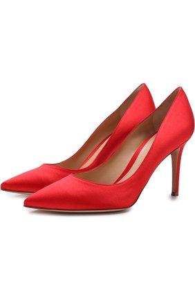 Атласные туфли Gianvito 85 на шпильке | Фото №1