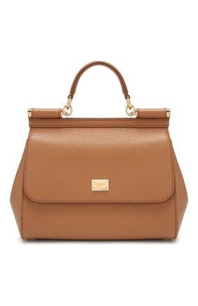 Женская сумка sicily medium DOLCE & GABBANA коричневого цвета, арт. BB6002/A1001   Фото 1