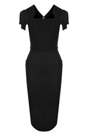 Женское однотонное платье-футляр с коротким рукавом ROLAND MOURET черного цвета, арт. PS18/S0174/F4044   Фото 1