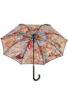 Зонт-трость с принтом Moschino черный   Фото №3