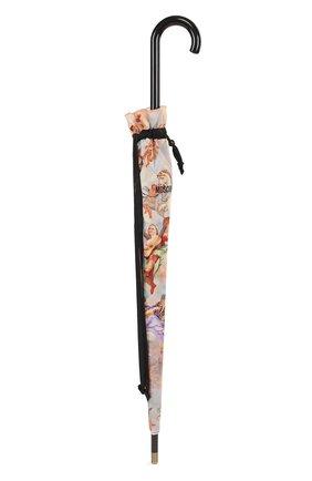 Зонт-трость с принтом Moschino черный   Фото №4