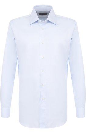 Мужская хлопковая сорочка с воротником кент CANALI голубого цвета, арт. 705/GA00111/CS | Фото 1
