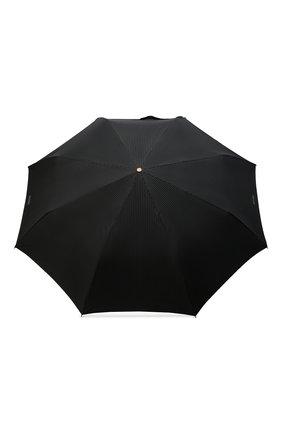 Женский складной зонт с логотипом бренда MOSCHINO черного цвета, арт. 8509-T0PLESS | Фото 1