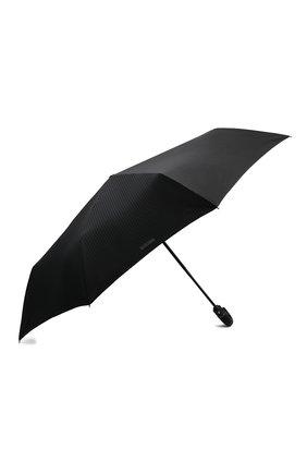 Женский складной зонт с логотипом бренда MOSCHINO черного цвета, арт. 8509-T0PLESS | Фото 2