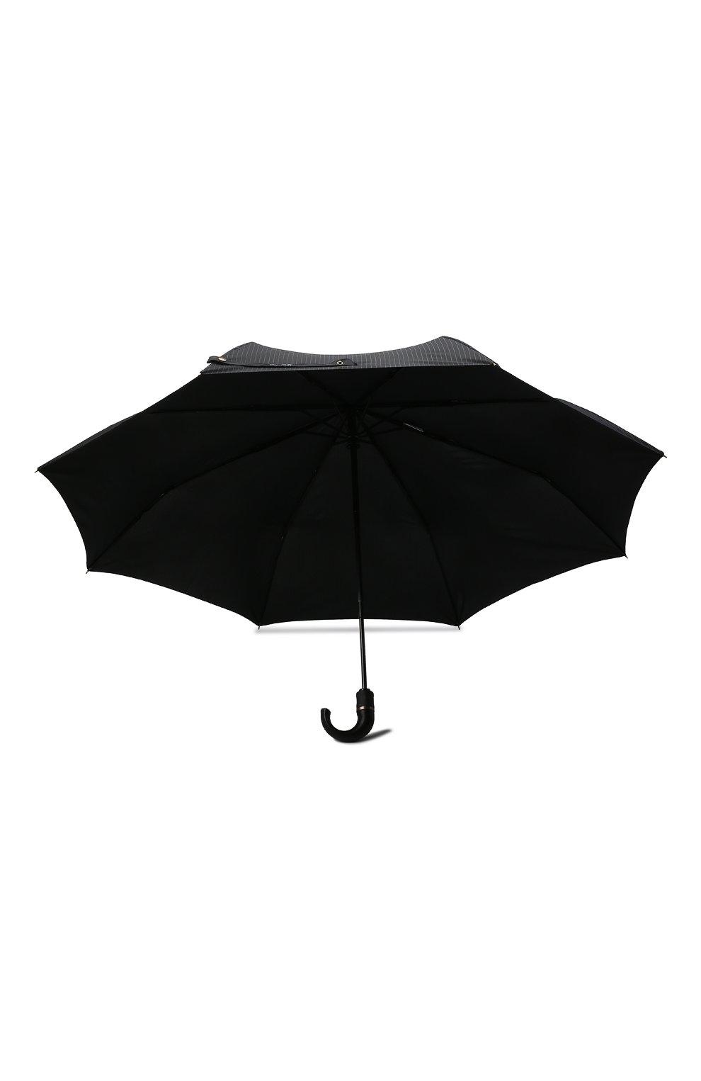 Складной зонт с логотипом бренда Moschino черный | Фото №3
