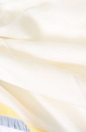 Женский платок quadrata rainbow из кашемира и шелка LORO PIANA белого цвета, арт. FAE7233 | Фото 2