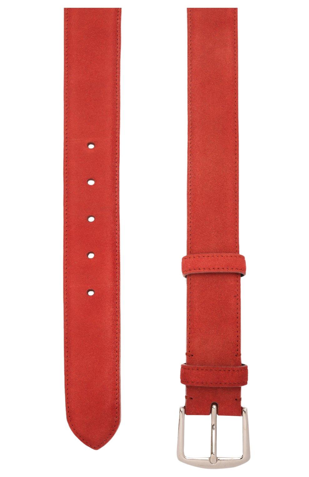 Мужской замшевый ремень LORO PIANA бордового цвета, арт. FAA1544 | Фото 2