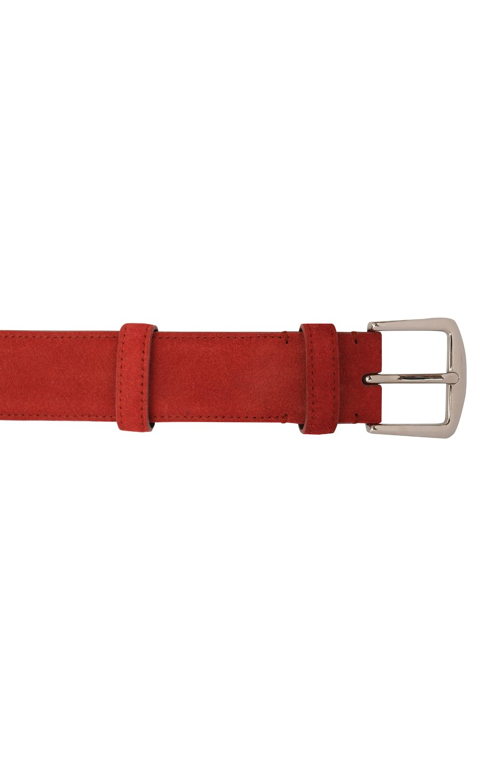 Мужской замшевый ремень LORO PIANA бордового цвета, арт. FAA1544 | Фото 3